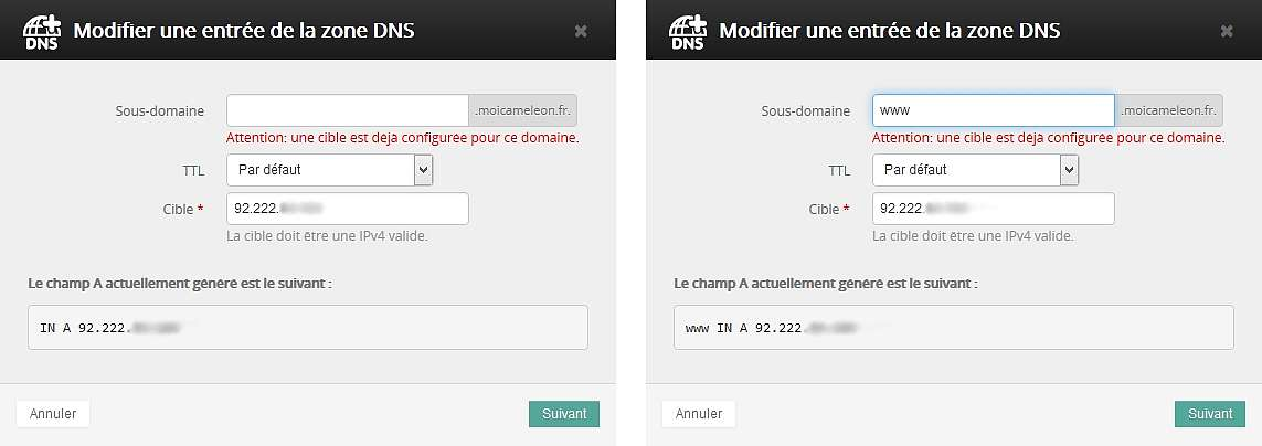 nom de domaine zone dns wordpress