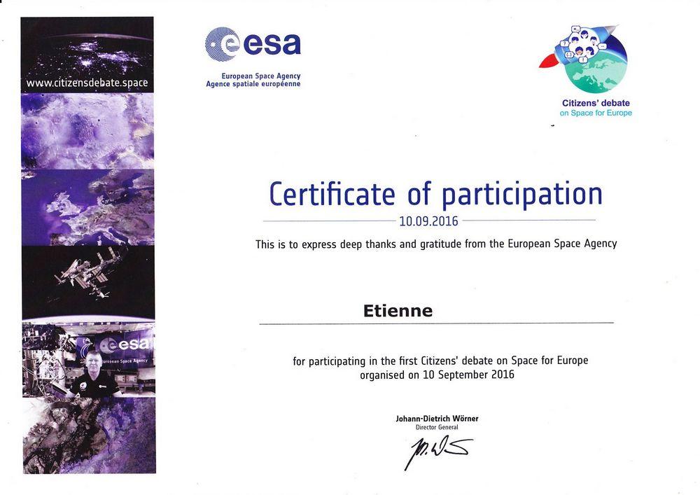 certificat débat citoyen