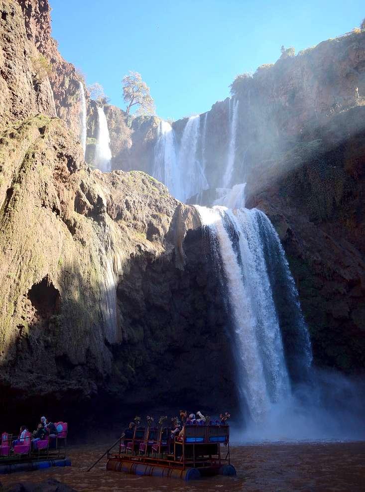 Bateau cascade Ouzoud