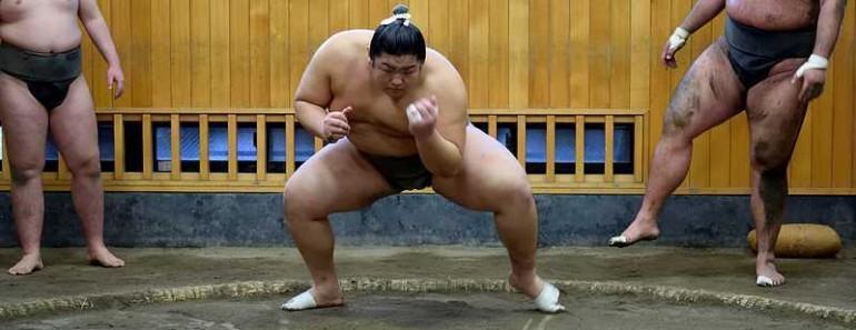 Entraînement sumo à Ryogoku