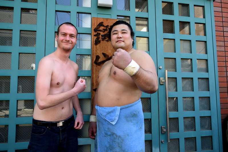 Pose avec les sumos