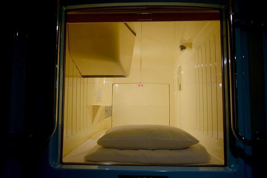 Intérieur hôtel capsule