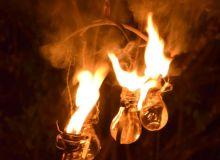 fioles enflammées
