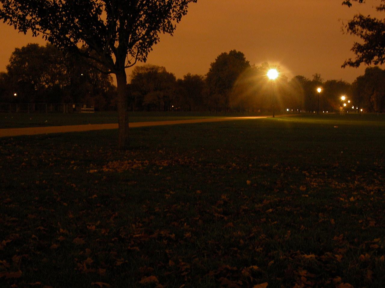 hyde park de nuit