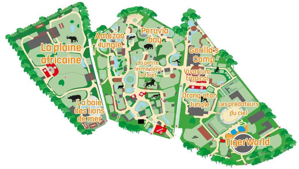 Plan zoo Amnéville