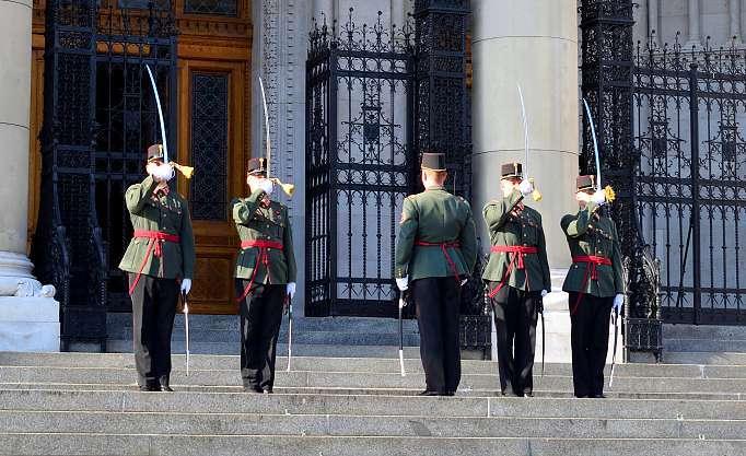 Gardes du parlement de Budapest