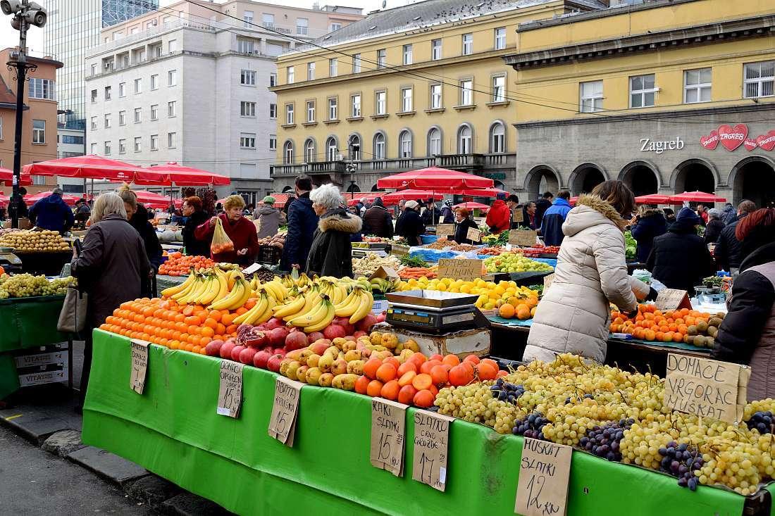 Marché Dolac de Zagreb