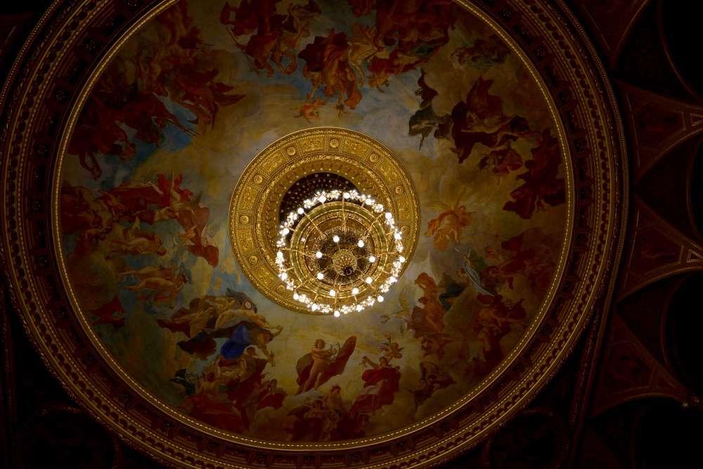 Plafond opéra Budapest
