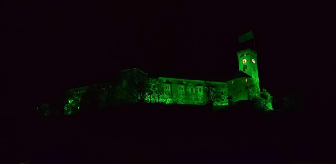 Château de Ljubljana de nuit