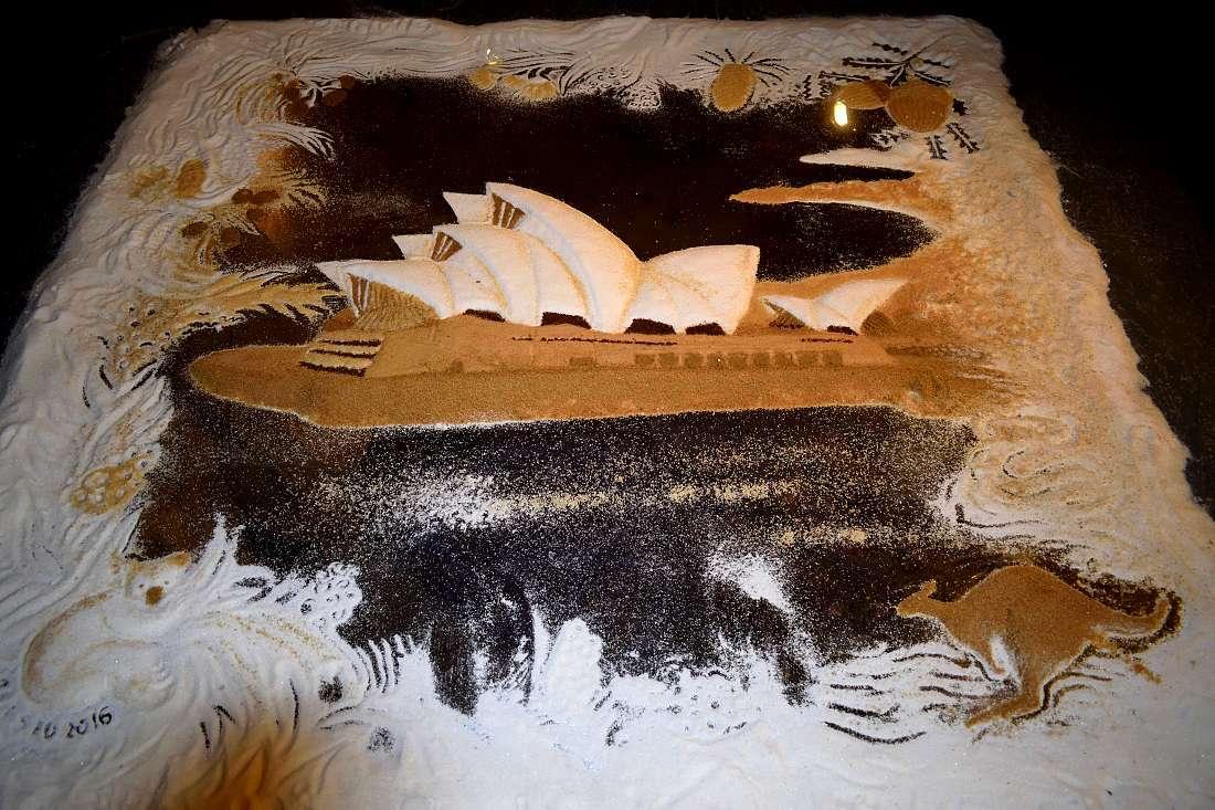 Dessin en sable