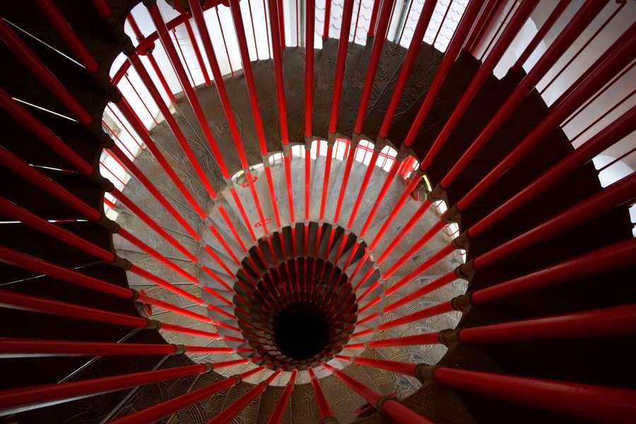 Escaliers rouge