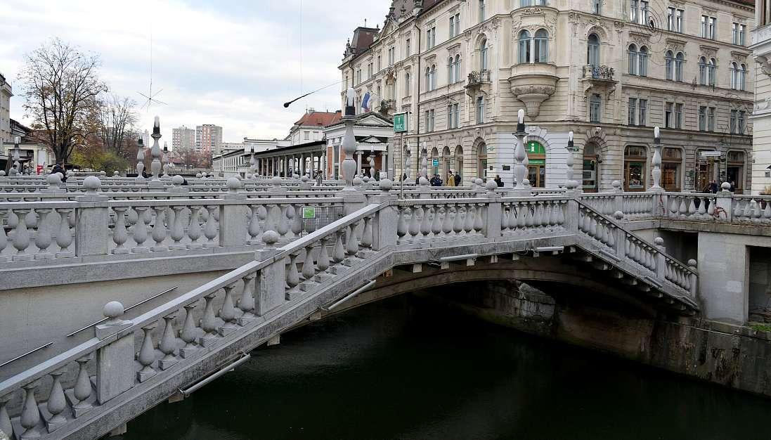 Trois ponts Lubiana