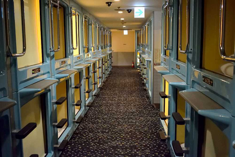 Hôtel capsule à Tokyo