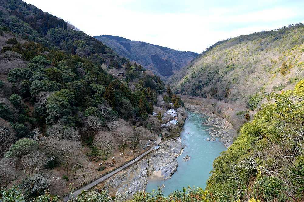 Vue sur fleuve Iwatayama