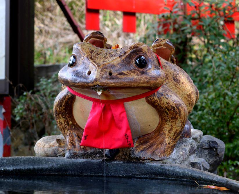 Grenouille temple japon