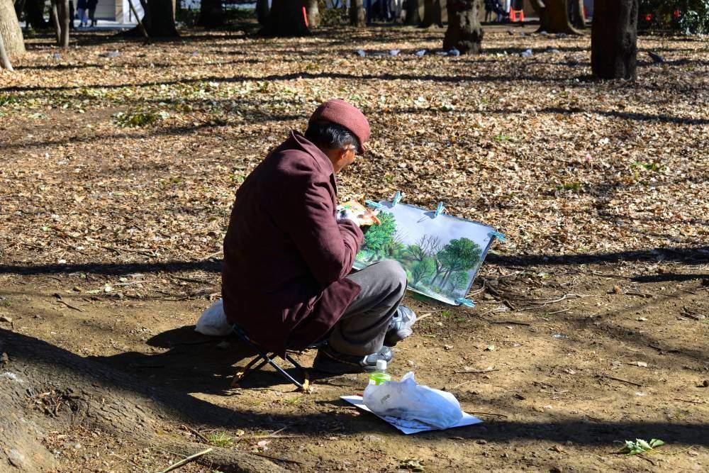 Peintre parc Ueno