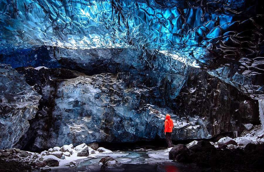 Cave de glace en Islande