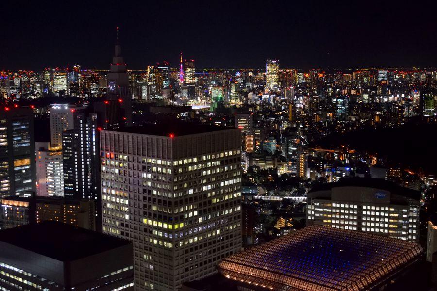 Panorama de Tokyo la nuit