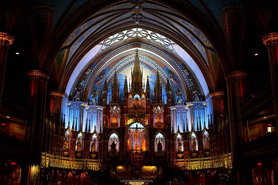 Basilique Notre Dame à Montréal