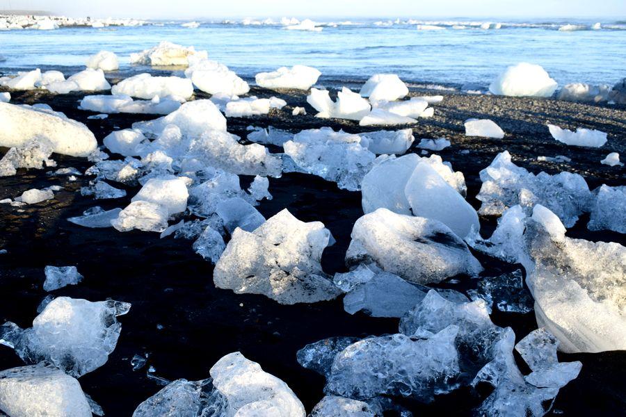 plage icebergs islande