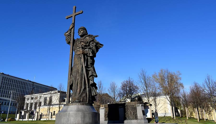 statue vladimir 1er moscou