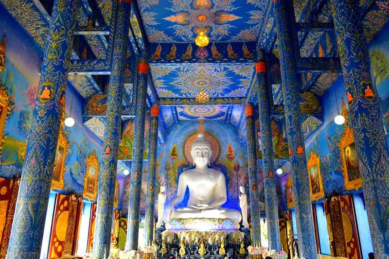 temple bleu intérieur