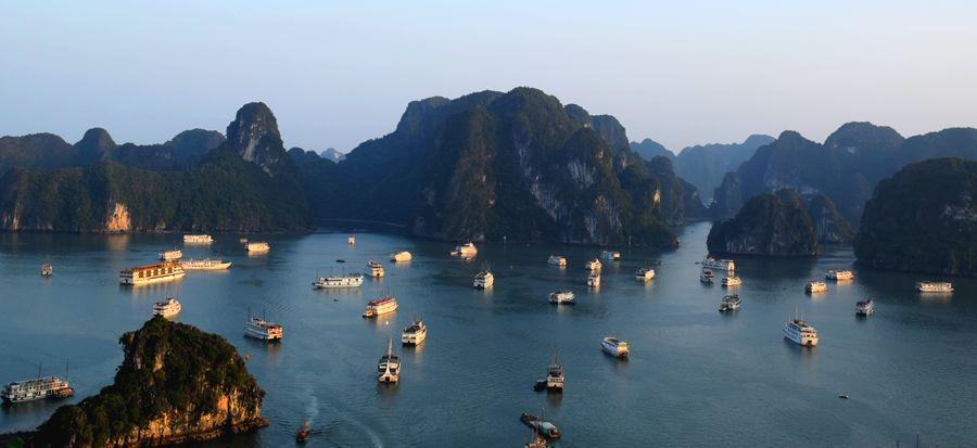 bateaux de touristes