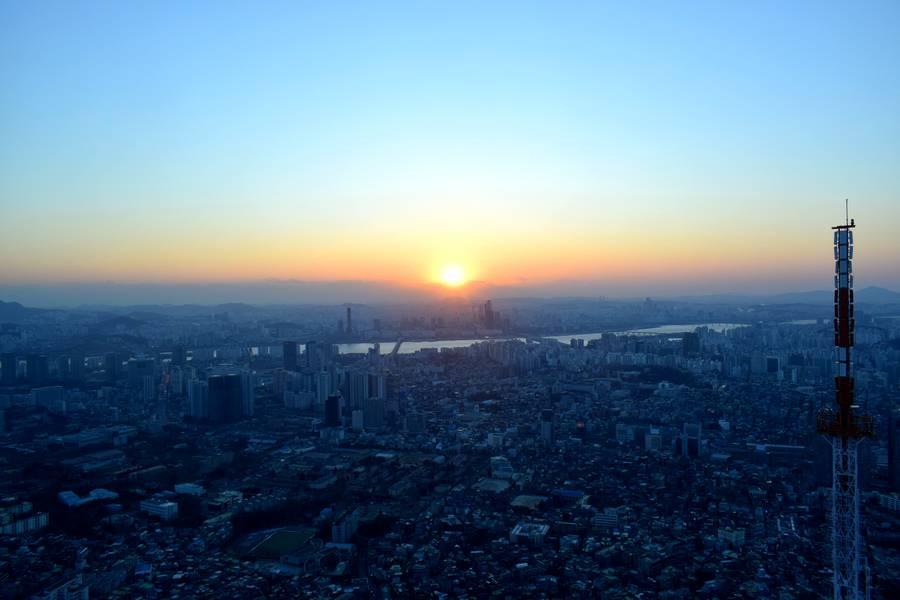 Coucher de soleil Séoul