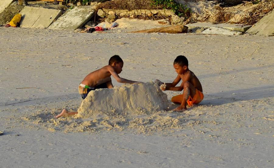 structure de sable