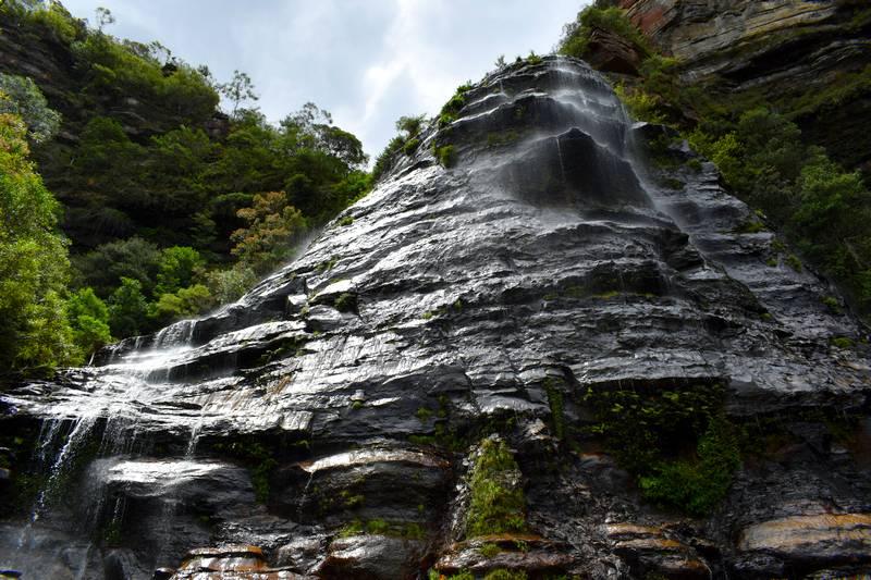 cascade montagnes bleues