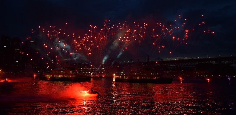 Feu d'artifice fête nationale Australie