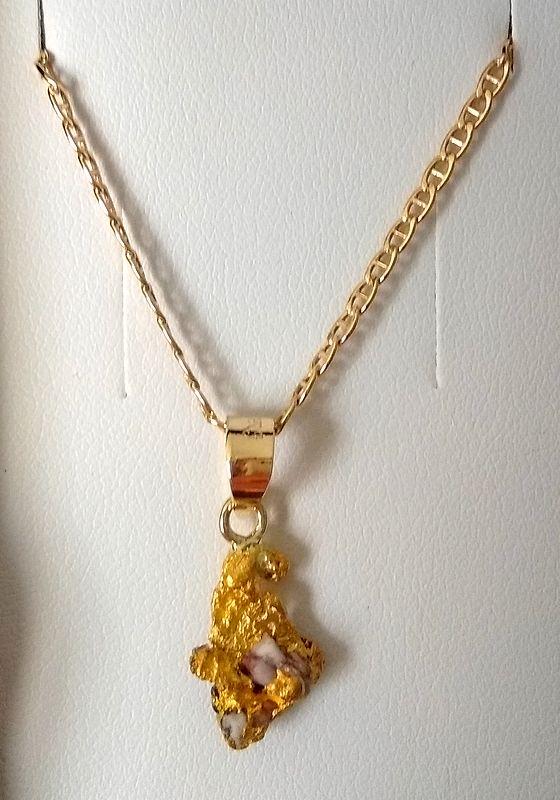 pendentif pépite en or