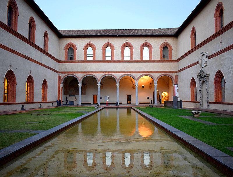 Chateau des Sforza interieur