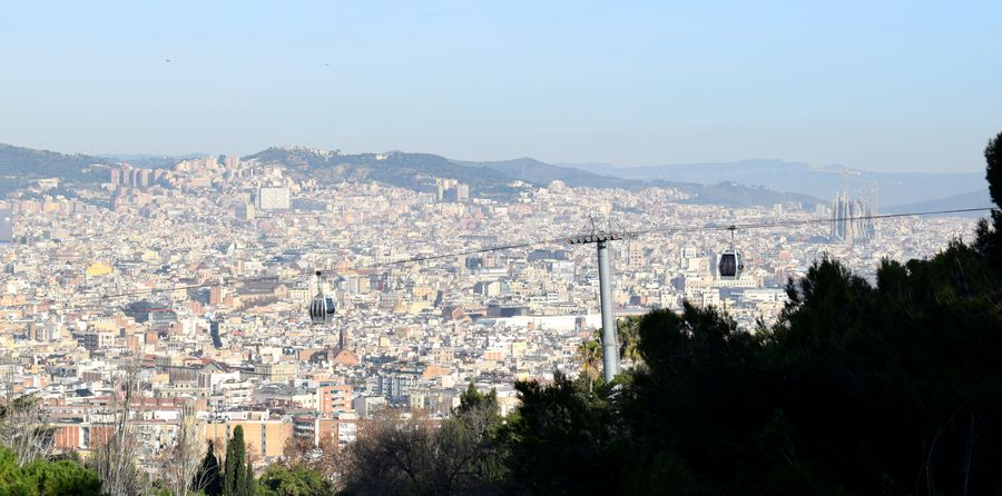 vue panoramique barcelone